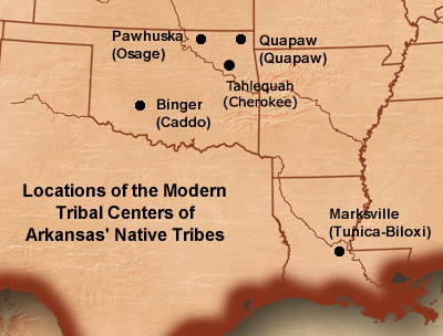 map of arkansas indian tribal government locations