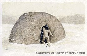 Paleoindian shelter, by Larry Porter