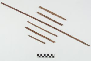 Examples of cane arrowshafts from Bushwhack Bluff shelter in Benton County.