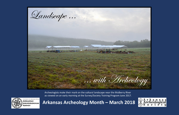 2018 Arkansas Archeology Month Poster
