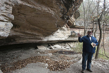 Ozark bluffs preserve stories about first residents (photo & article by The Joplin Globe)
