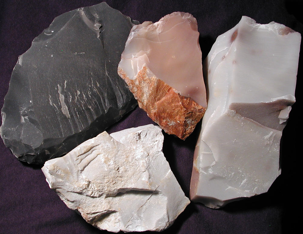 Now used for whetstones, Arkansas novaculite was chipped into a variety of sharp-edged tools by Indians in this region.