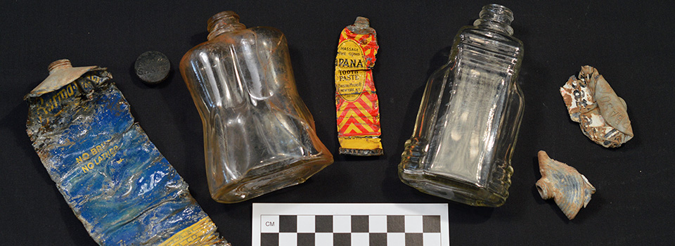 Personal artifacts recovered from the Officer's Compound at Camp Monticello