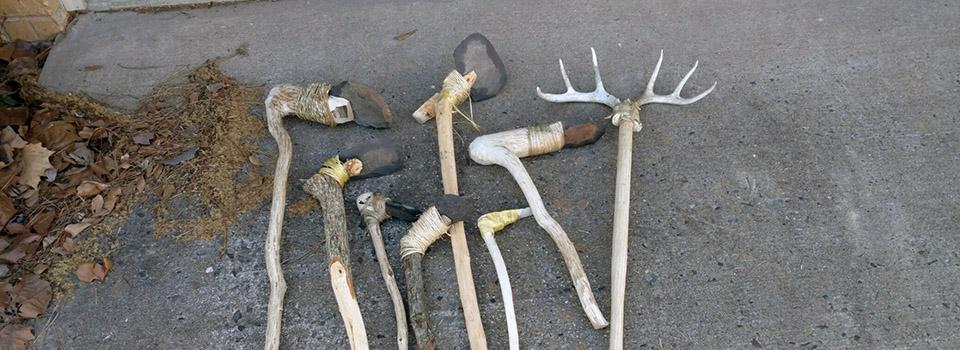 Replica Woodland garden tools at WRI