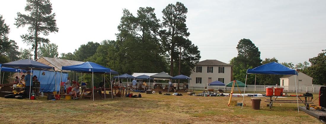 2011 Summer excavations at Block 6 at Historic Washington State Park.