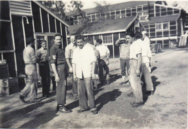 Italian prisoners of war outside a mess hall in the Garrison Echelon. Photo courtesy of the Drew County Archives.