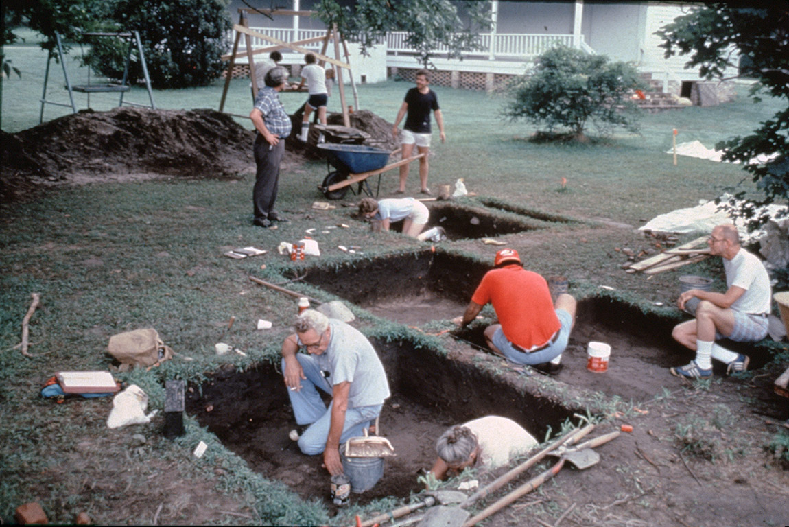 1981 excavations at the Sanders House site, Old Washington State Park.
