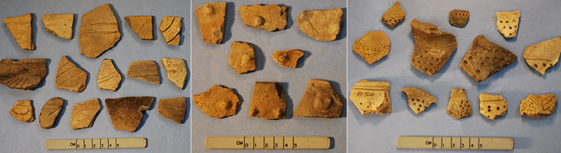 Assorted surface artifacts found at Old Town Ridge.