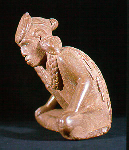 Culture Hero carving from Spiro (University of Arkansas Museum Collections).