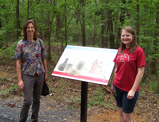 Mary Beth Trubitt and Vanessa Hanvey assisted the City of Arkadelphia to create interpretive signs for the DeSoto Bluff Trail.