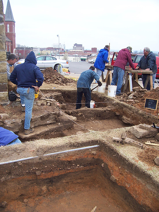 Excavations at St. Anne's Convent of the Sisters of Mercy in Fort Smith, 2004.
