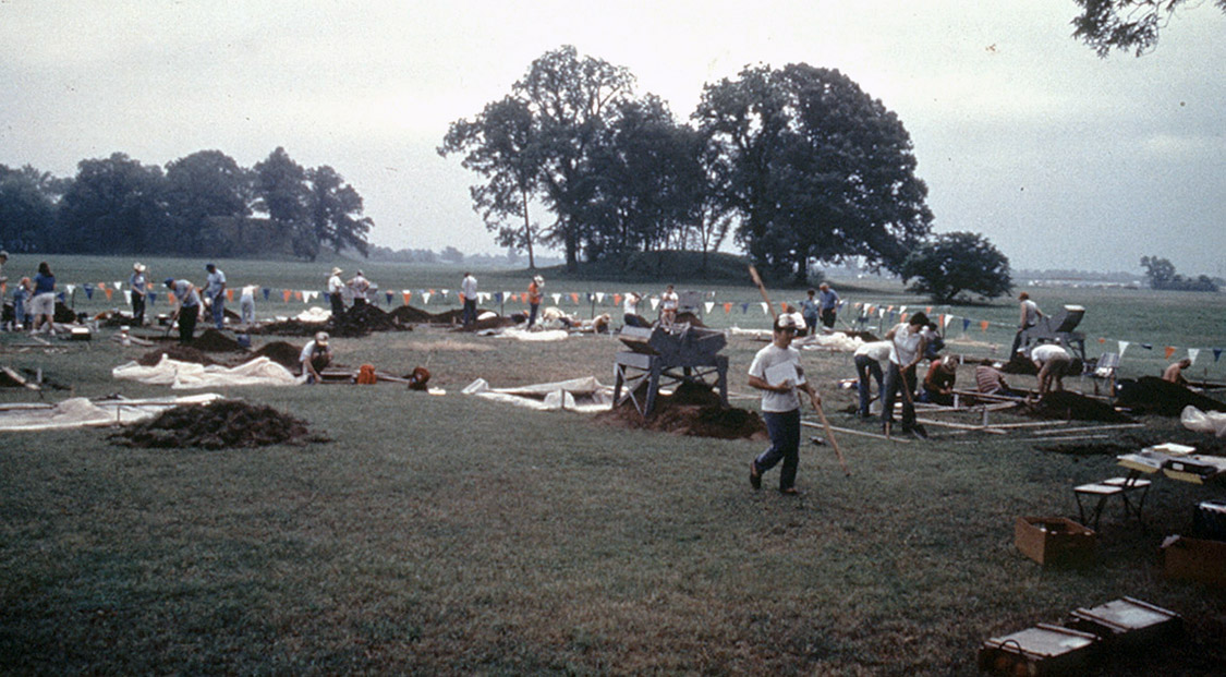 Arkansas Archeological Society excavations.