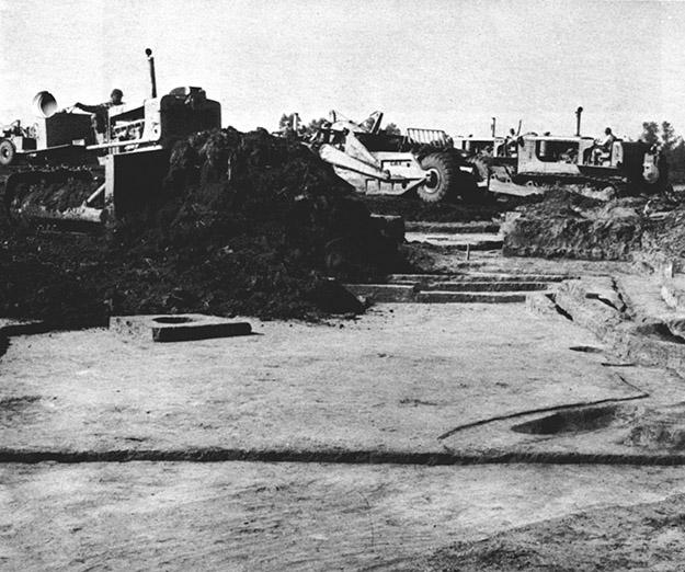 Archeological site destruction