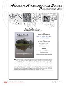 Arkansas Archeological Survey Publications Catalog 2018 (PDF)