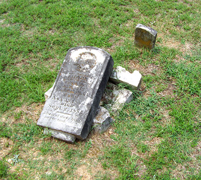 Photo taken by ARAS-HSU staff on a visit to Bryant Cemetery (3SA372).