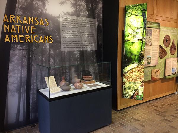 Exhibit in the Arkansas Union, University of Arkansas-Fayetteville.