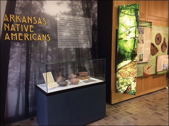 Arkansas Native Americans exhibit in the University of Arkansas Student Union, Fayetteville.