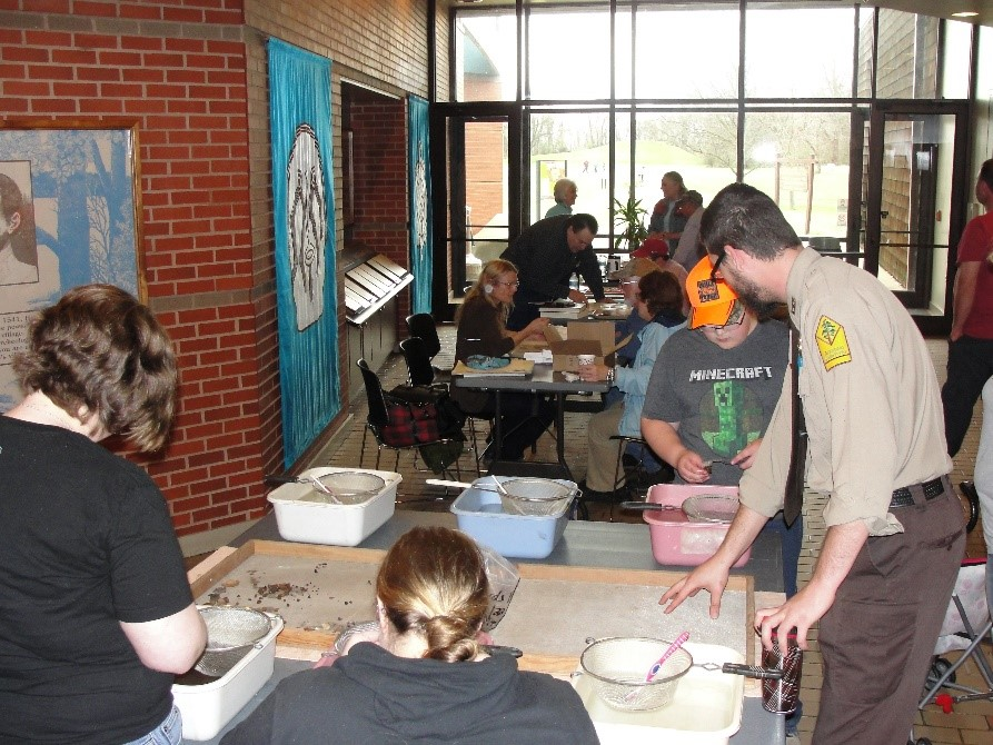 Archeology Month activities at Parkin Archeological State Park.
