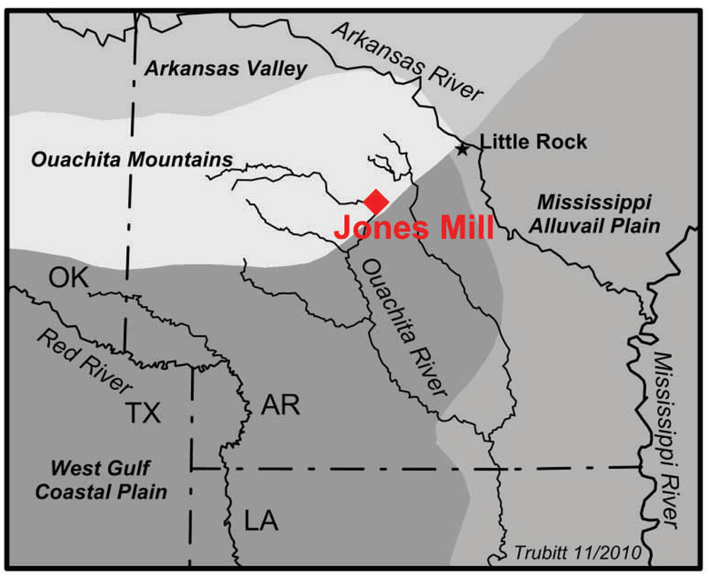 Location of Jones Mill