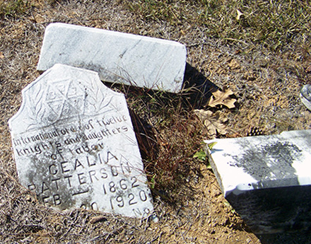 More work is planned to clean and repair some of the grave markers at Helms Cemetery