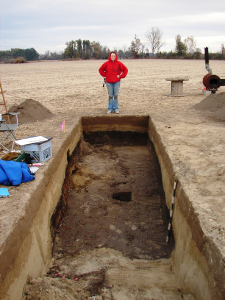 The SE end of the trench