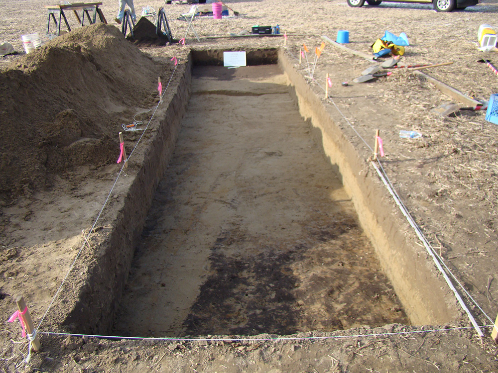 The trench looking NW