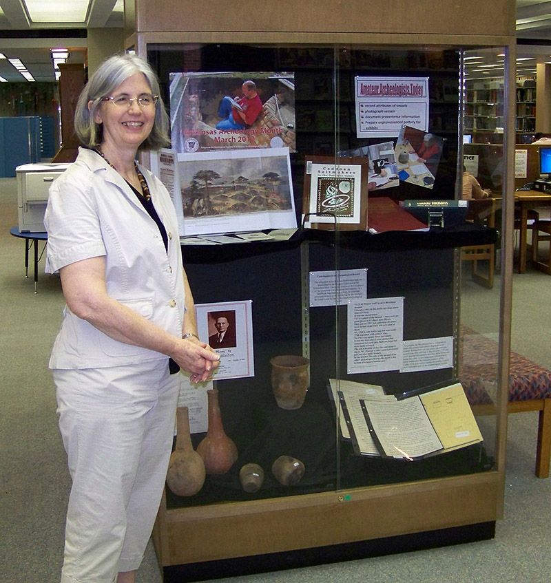 HSU archivist Linda Evans included JEC Hodges collection materials in her Arkansas Archeology Month 2012 exhibit.