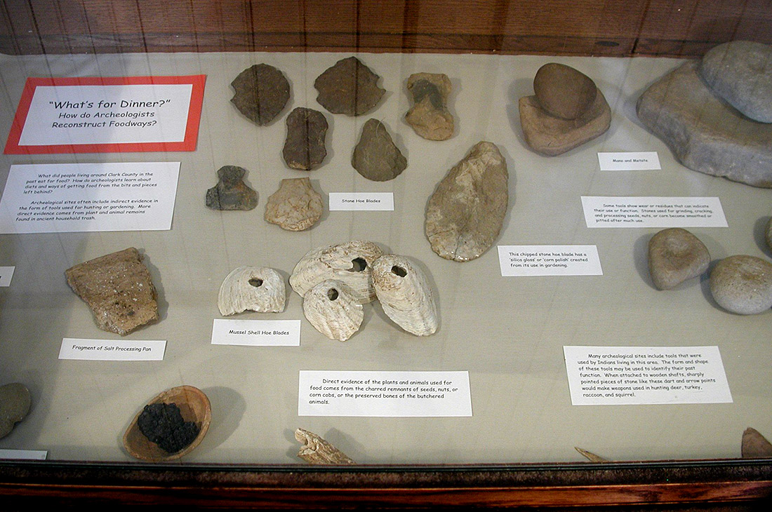 JEC Hodges Collection artifacts on exhibit in the Clark County Historical Association Museum in Arkadelphia.