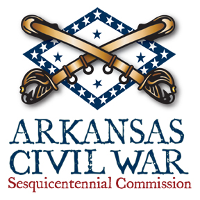 The logo of the Arkansas Civil War Sesquicentennial Commission