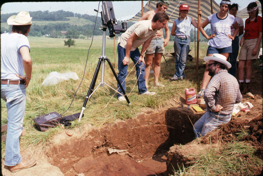 Wolfman collected a large number of oriented samples of fired sediments from archeological sites in Arkansas and Missouri.