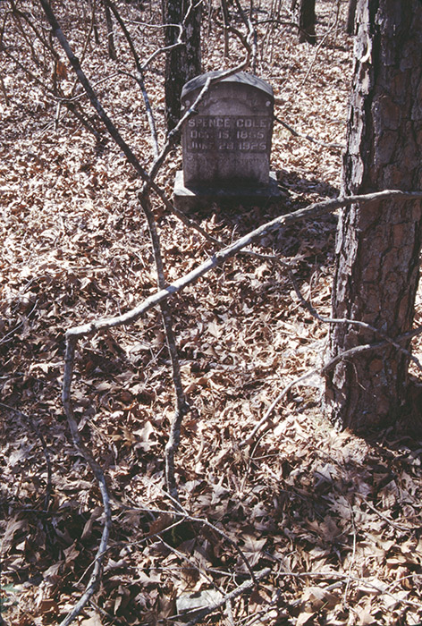 "The gravestone of Spence Cole reads ""Gone but not forgotten."" This cemetery in Hot Spring County has now been recorded as archeological site 3HS608."