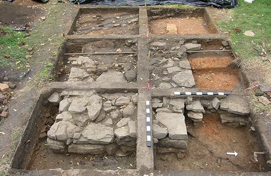 Excavations at the Drenneon-Scott House in Van Buren.