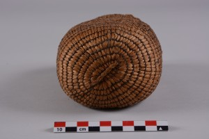 Bottom view of the Edens Bluff seed bag. University of Arkansas Museum Collections.