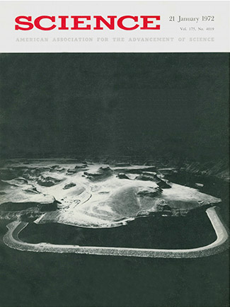 The cover from SCIENCE vol. 175 No. 4019, 21 January 1972.