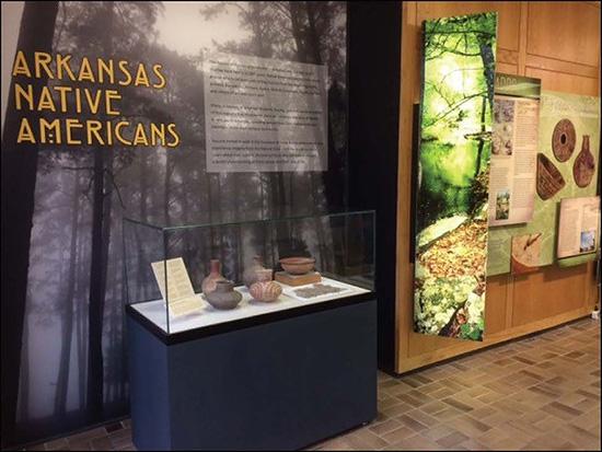 Arkansas Native Americans exhibit in the University of Arkansas Student Union, Fayetteville.