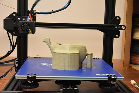 Printing a replica from the 3D scan.