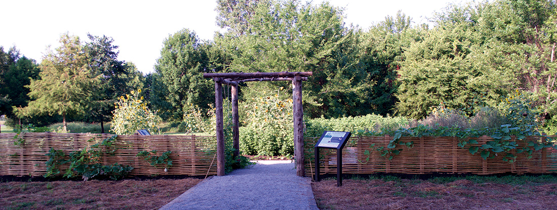 Entrance to the Plum Bayou Garden at ARAS-TMRS, Toltec Mounds Archaeological State Park