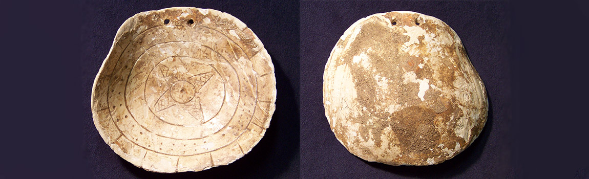 Engraved Shell Gorget from the Shepherd Site