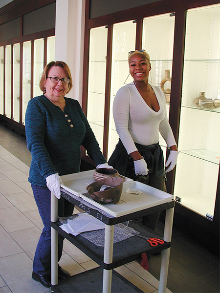 Artifacts from the Joint Educational Consortium's Hodges Collection were transferred to Open Storage in 2019