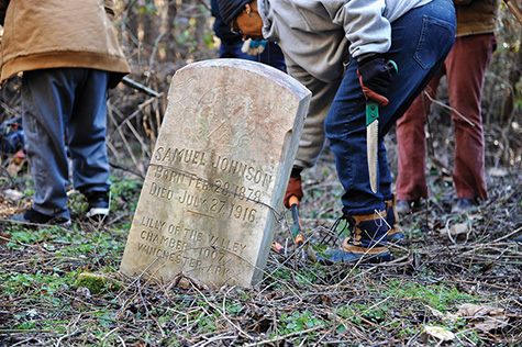 Survey archeologists provide assistance on documenting and protecting historic cemeteries, especially African-American cemeteries.
