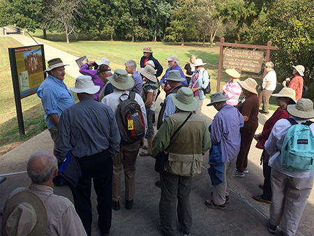 "Jeff Mitchem leading the Archaeological Conservancy's ""Peoples of the Mississippi Valley"" tour at the Parkin site."