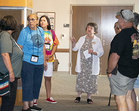 Ann with Quapaw elders at the ARAS Coordinating Office in Fayetteville.