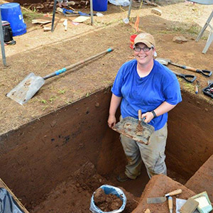 Katy Gregory, Interim Station Archeologist at Toltec Mounds Research Station.