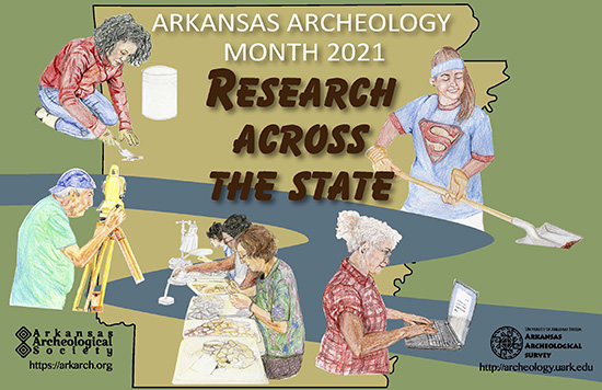 2021 Archeology Month poster image