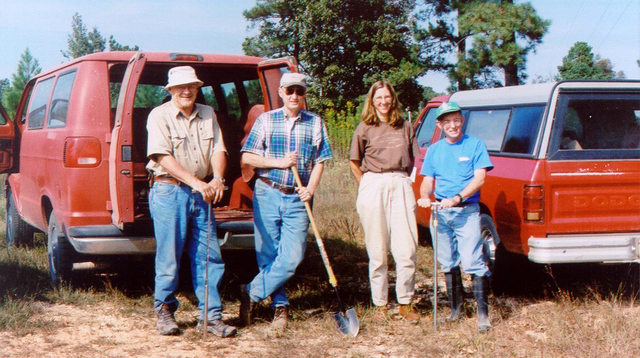 "Frank, Marvin Jeter, Mary Beth Trubitt, and John House: ""Borderlands Project"" team, 2005."