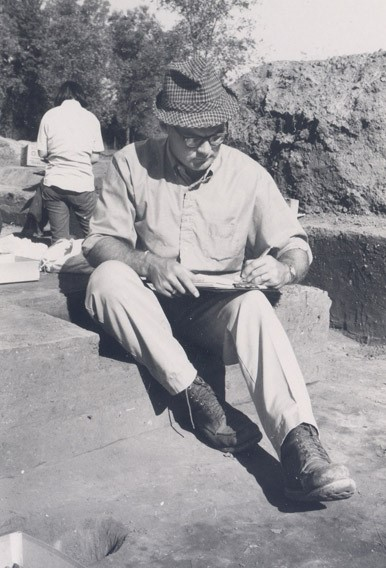 Frank Shambach at the Crenshaw site